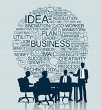 Business meeting with icon background Royalty Free Stock Photography