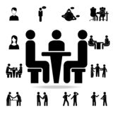 a business meeting icon. Detailed set of conversation icons. Premium graphic design. One of the collection icons for websites, web royalty free illustration