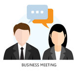 Business Meeting Icon Flat design  Concept Royalty Free Stock Image