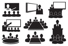 Business Meeting Icon Set Royalty Free Stock Photo