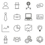 Business Meeting Icons Thin Line Vector Illustration Set. This image is a vector illustration and can be scaled to any size without loss of resolution Stock Images