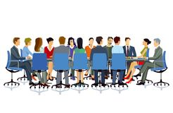 Business meeting illustration Royalty Free Stock Images