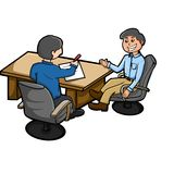 BUSINESS MEETING. Illustration of some of the people were doing meeting Royalty Free Stock Images