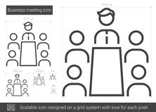 Business meeting line icon. Royalty Free Stock Image