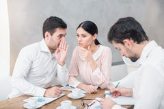 Business meeting in luxury restaurant Royalty Free Stock Images