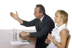 Business meeting - man arguing Stock Image