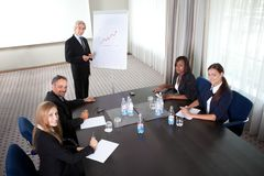 Business meeting - man presenting his ideas Stock Photography