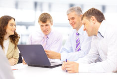 Business meeting - manager discussing Stock Image