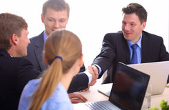 Business meeting -  manager discussing work with Stock Photo