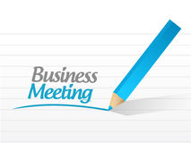 Business meeting message sign illustration design Stock Images