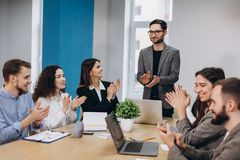 Business meeting in a modern office royalty free stock photos
