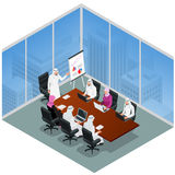 Business meeting in a modern office. Speaker at Business Conference and Presentation. Business People on a Meeting. Flat Royalty Free Stock Image