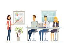 Business Meeting - modern vector cartoon characters illustration Stock Photo