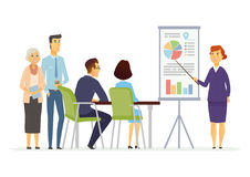 Business Meeting - modern vector cartoon characters illustration Royalty Free Stock Images