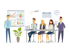 Business Meeting - modern vector cartoon characters illustration Stock Images