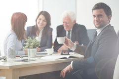 Business meeting in modern workplace Royalty Free Stock Photos