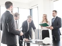 Free Business Meeting Of Architects And Investors Royalty Free Stock Photography - 138374517