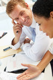 Business meeting in an office Royalty Free Stock Image