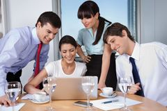 Business Meeting in Office Stock Photo