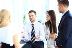 Business meeting in an office Royalty Free Stock Images