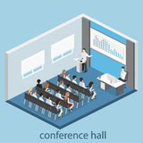 Business meeting in an office Business presentation meeting in conference hall. People listen to speakers. Stock Image