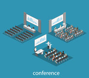 Business meeting in an office Business presentation meeting in conference hall. People listen to speakers. Stock Photo