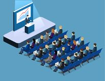 Business meeting in office Business presentation meeting in conference hall. Royalty Free Stock Photography
