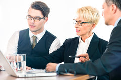 Business - meeting in office, people working with document Royalty Free Stock Image