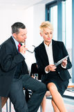 Business - meeting in office, senior managers Stock Images
