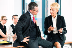 Business - meeting in office, senior managers Royalty Free Stock Photo