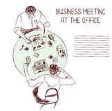 Business meeting at the office - sketch Stock Photo