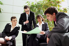 Business meeting outdoors Royalty Free Stock Photos