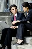 Business Meeting Outside Stock Images