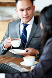 Business meeting over coffee Royalty Free Stock Photo