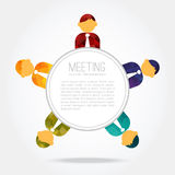 Business meeting, people around the table,  Royalty Free Stock Photos