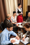 Business meeting people dealing at restaurant Royalty Free Stock Photo