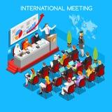 Business Meeting People Isometric Stock Image