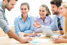 Business meeting. Business people meeting at table royalty free stock images