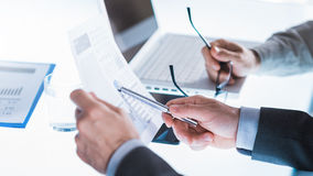 Business meeting and planning Royalty Free Stock Photo