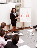Business meeting presentation flipchart Stock Photos