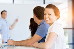Business meeting with presentation Stock Photography