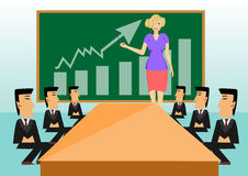 Business meeting and presentation in an office Royalty Free Stock Images