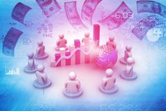 Business meeting and profit sharing Stock Images