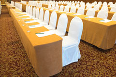Business meeting - ready for auditory. Conference hall before business meeting - ready for auditory stock images