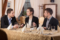 Business meeting in restaurant Stock Photography