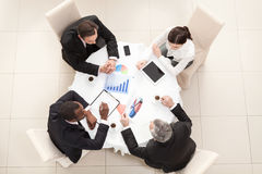 Business meeting in restaurant Royalty Free Stock Photos