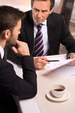 Business meeting at the restaurant. Royalty Free Stock Photo