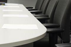 Business meeting room (Chairs, paper, preparation) Stock Image