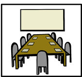 Business meeting room vector illustration Stock Photo