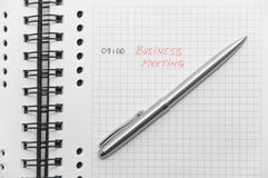 Business meeting scheduled (with red letters) Stock Photography